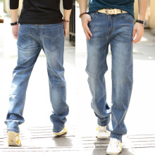 2016 nuevos pantalones vaqueros de algodón clásicos de la manera de los hombres rectos pantalones vaqueros de la marca
