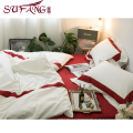 Luxury hotel Germany hotel room bed linen set trade assurance servive frame embroidery