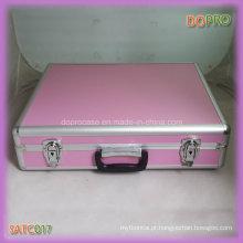 Alumínio rosa alça de travamento do estilo de superfície de bloqueio transportar case (sattc017)