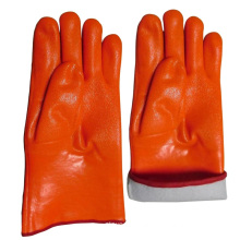 Gauntlet Hi-Viz Orange PVC Dipped Railway Safety Working Glove
