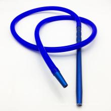 2m de tuyau de narguilé de Shisha de silicone bleu avec l'embouchure en métal (ES-HH-016-5)