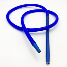 Mangueira de narguilé de shisha de Silicone azul 2m com bocal de metal (ES-HH-016-5)