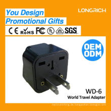 Multifunktions-Reise-Stecker usb-Wand-Steckdose, 10a 3-Gang-Steckdose ce rohs genehmigt