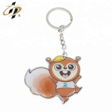 Promotional metal silver 3d print custom cartoon key chains