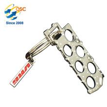 Llavero personalizado de encargo promocional barato del metal del aniversario de la venta caliente caliente