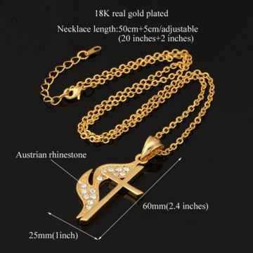 New Unique Fire Cross Pendants 2 Colors 18K Gold/Platinum Plated Choker Cross Necklaces & Pendants
