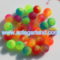 6MM 8MM Acrylic Round Two Tone Color Fishing Beads