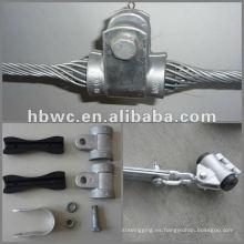 Abrazadera de cable de alto voltaje de la suspensión ADSS