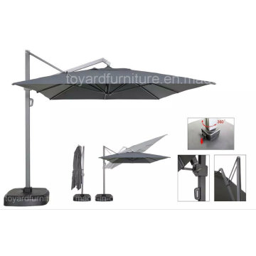 New Outdoor Patio Aluminum Offset Sunshade with 360 Degree Turn