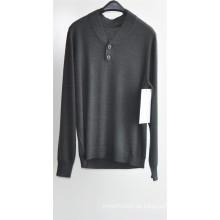 Männer V-Ausschnitt Pure Farbe Strick Pullover Pullover