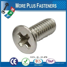 Made in Taiwan ISO 7046 Philips Flat Countersunk Head Machine Screw Low Carbon Steel Zinc Plated