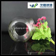 16oz 450ml Drum Flat Glass Candy Jar