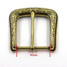 Leisure Gold Non-Automatic Needle Engraved Belt Buckle