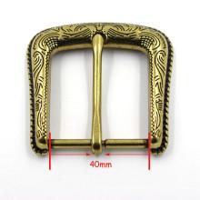 Ouro de lazer não-automático agulha gravada fivela de cinto