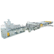 PC,PP,PE,PVC hollow sheet extrusion line