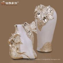 design populaire décor de table de fantaisie de 2 résines de vase à fleurs