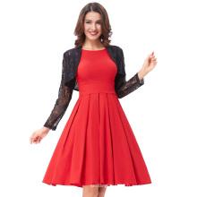 Belle Poque Rouge Couleur Pin Up Vestidos Robe décontractée décontractée 50s Robe vintage Robe d'été femme BP000091-2
