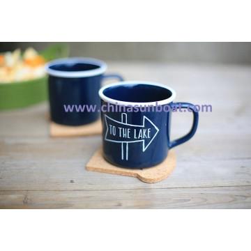 Sunboat Enamel Mug Coffee Cup Milk Water Cup Tableware