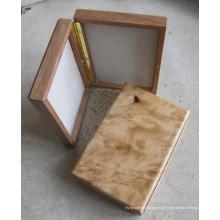 Handmade madeira Burled Fly Fishing Box