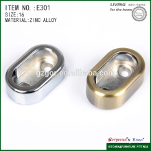 curved zinc alloy tube support flange