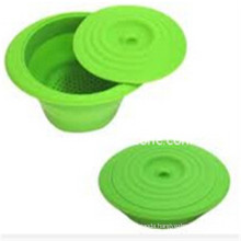 100% Eco-Friendly Plastic Silicon Strainer