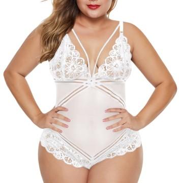 Transparente Plus Size Damen Body Dessous