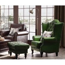 País estilo ocio salón y dormitorio silla del sofá del cuero