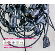 SLT720 wetterfeste Terrasse Lichterkette S14 Birne, schwarz, 48 '