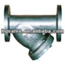 Y-Strainer with flange connection ss screen iron body