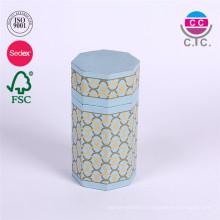 nouveau style jolie boîte ronde de cylindre de papier bleu pour le crayon