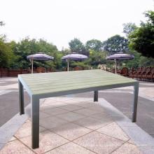 Металлический прямоугольный открытый сад обеденный стол