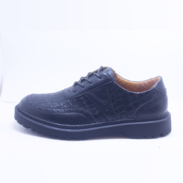 Outlet Zapatos casuales negros con cordones para hombres