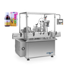 Automatic pharmaceutical liquid filling machines syrup filler glass and pet bottle