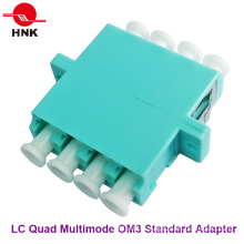 LC Quad Multimode Om3 Standard Plastic Fiber Optic Adapter