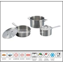5 PCS Cut Edge Stainless Steel Cookware Set