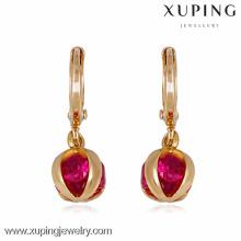 22237 Xuping pendientes para mujer, joyas de oro pendientes mujer