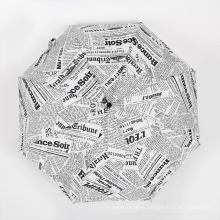 А17 Auto открыть и закрыть зонтик, английские газеты зонтик компактный зонтик
