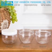 TJ-U серия 300g интересные и хот продажи цвет настраиваемые широкий рот чаша форму высокого качества ПЭТ jar для лица маски