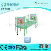 Cama plástica ajustável das crianças dos desenhos animados DW-CB02 para hospitais