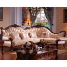 Деревянная Кожаный Угловой Диван / Диван-Кровать (Бумажник D802)