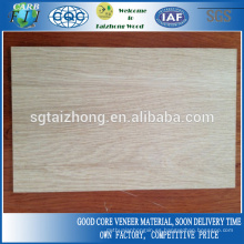 MDF laminado de roble blanco natural de 3 mm