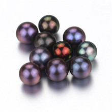 Snh Neue Mode kultiviert lose runde Perle halb gebohrt