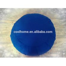Hochwertiges Rundkissen, Sitzkissen Yoga Kissen, -Blau- Bettwäsche Set