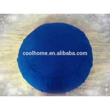 Almohada circular de alta calidad, cojín de asiento Cojín de yoga, juego de sábanas de color azul