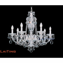 Maria Theresa Gold Clear K9 Crystal Chandelier LED Crystal Lustre Light para cocina Hallway LT-81146
