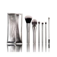 Metal Handle Makeup Brush Set, Synthetic Cosmetic Makeup Brushes with Aluminium Handle