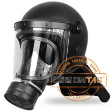Émeute de casque avec masque à gaz qui a la particularité de forte résistante aux vibrations et haute capacité anti-choc