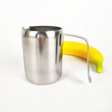 Chinese large stainless steel coffee milk tea cup with handle