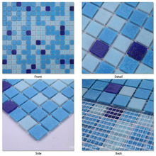 Cheap Mosaic Tile Sheets Glass Mosaic for Swimming Pool Tile Swimming Pool Glass Mosaic