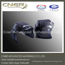 Diseño personalizado de alta resistencia casco de seguridad de fibra de carbono, parte de fibra de carbono